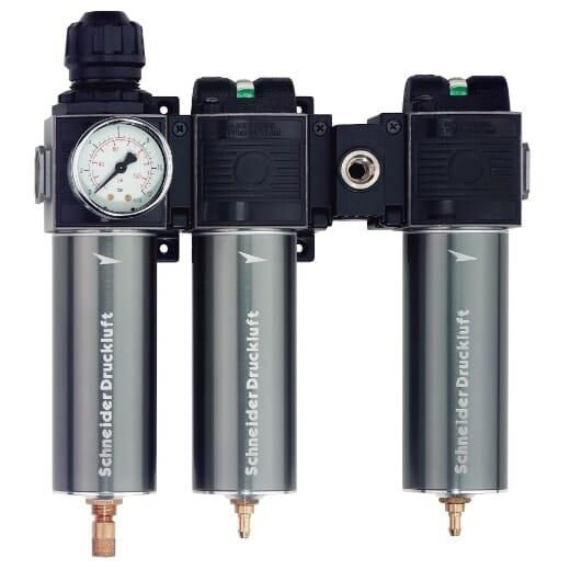 Maximálna kvalita stlačeného vzduchu - špeciálne pre aplikácie, pri ktorých je potrebná vysoká kvalita vzduchu (napr. lakovanie). Aktívne uhlie pre odstránenie olejových pár a toxínov.